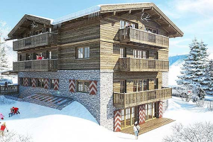Artist impression of our new chalet Eden Rock